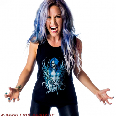 Alissa White-Gluz Photo Logo Muscle tank