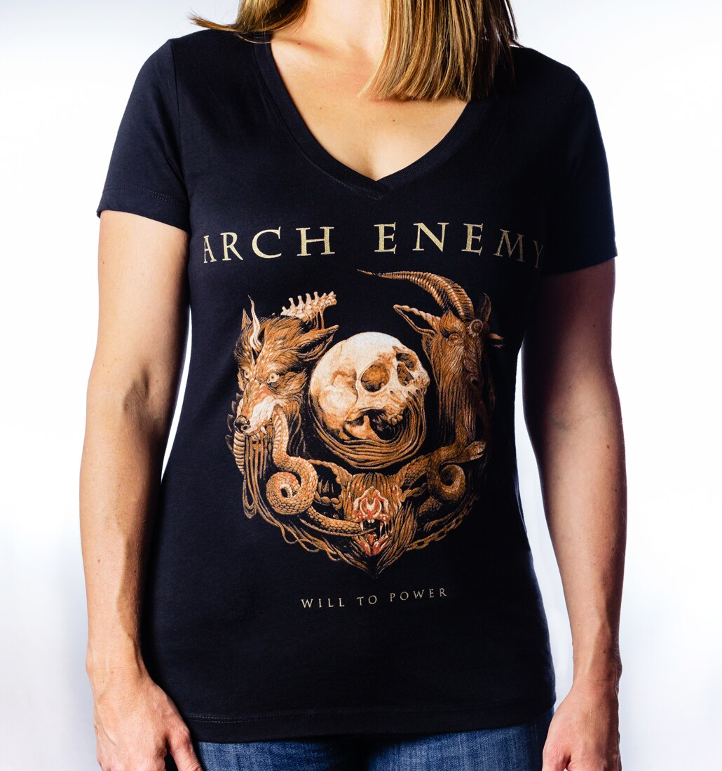 Arch Enemy Will to Power Ladies V-Neck tee