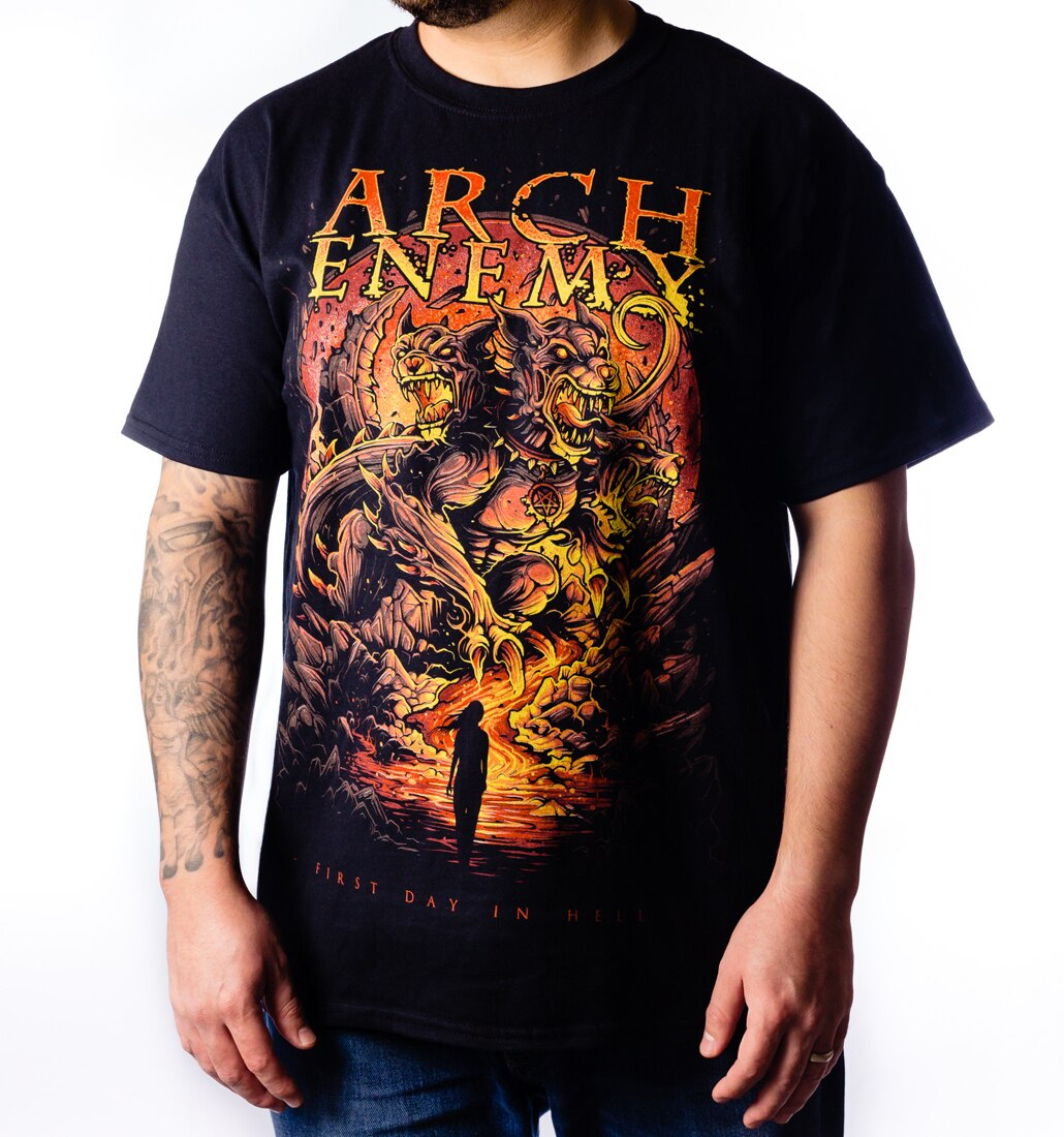 Arch Enemy First Day in Hell 2019 Tour tee