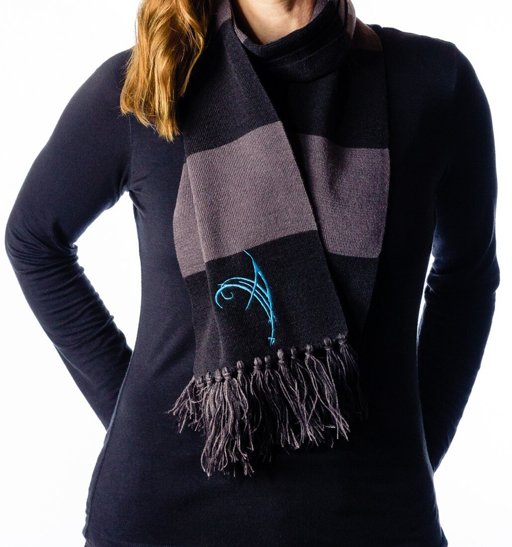 Alissa Logo embroidered scarf