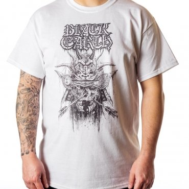 Black Earth Samurai on white t-shirt