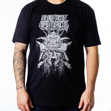 Black Earth Samurai on black t-shirt