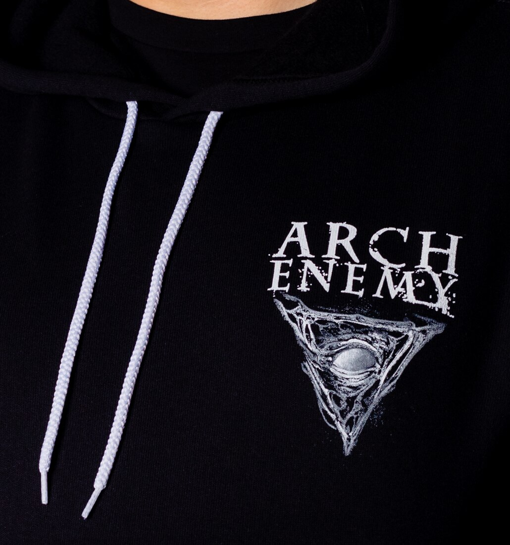 Arch Enemy Skull Logo Hoodie front close