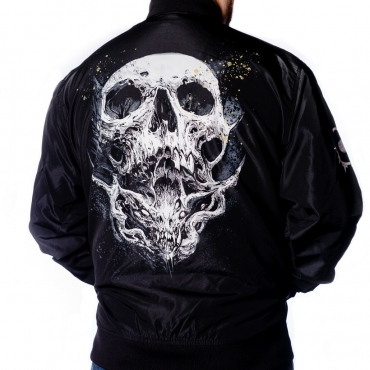 Arch Enemy Skull Logo Bomber back