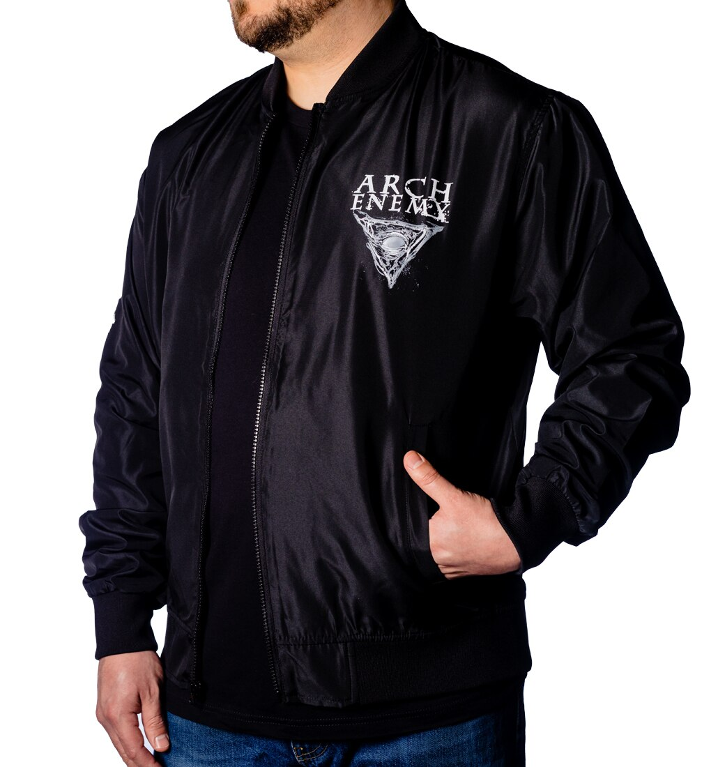 Arch Enemy Skull Logo Bomber front
