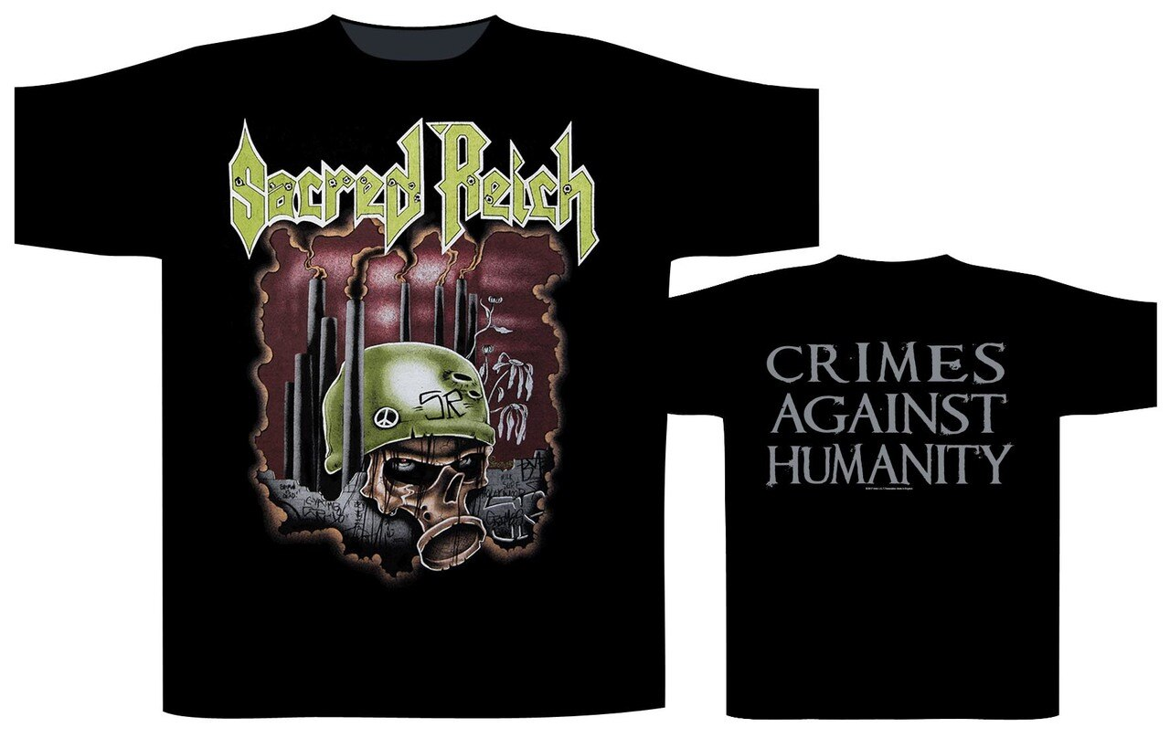 Sacred Reich 2020 tour Crimes Against Humanity tee