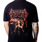 Rise of Heresy by The Troops of Doom t-shirt on model back view