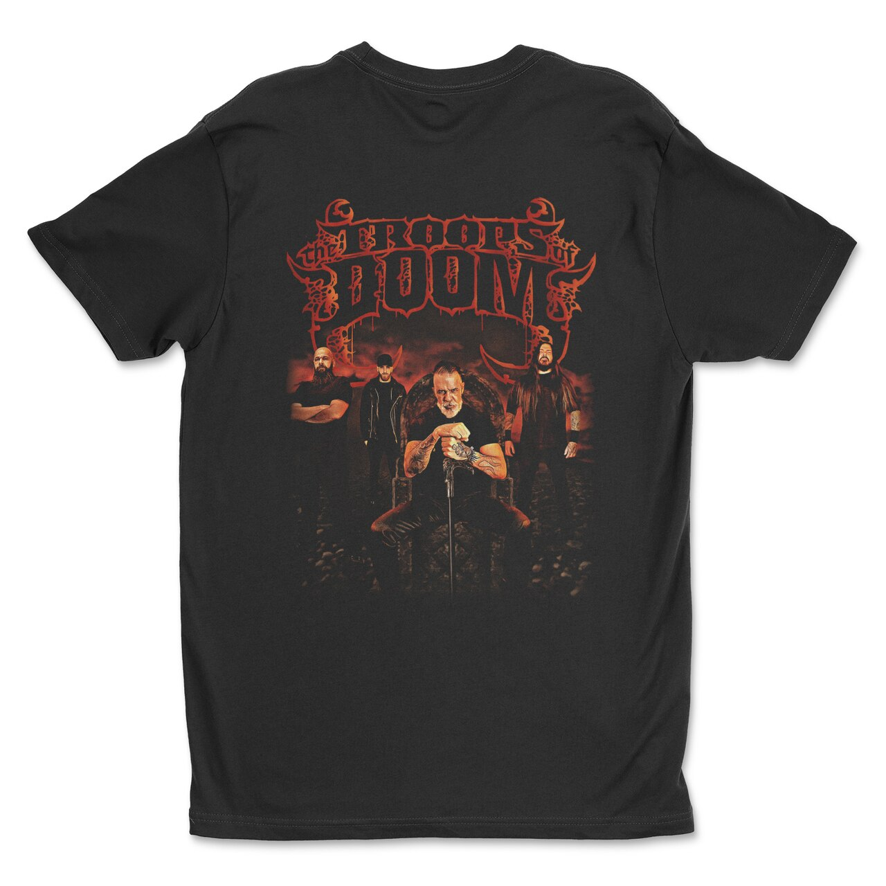 Rise of Heresy by The Troops of Doom t-shirt back