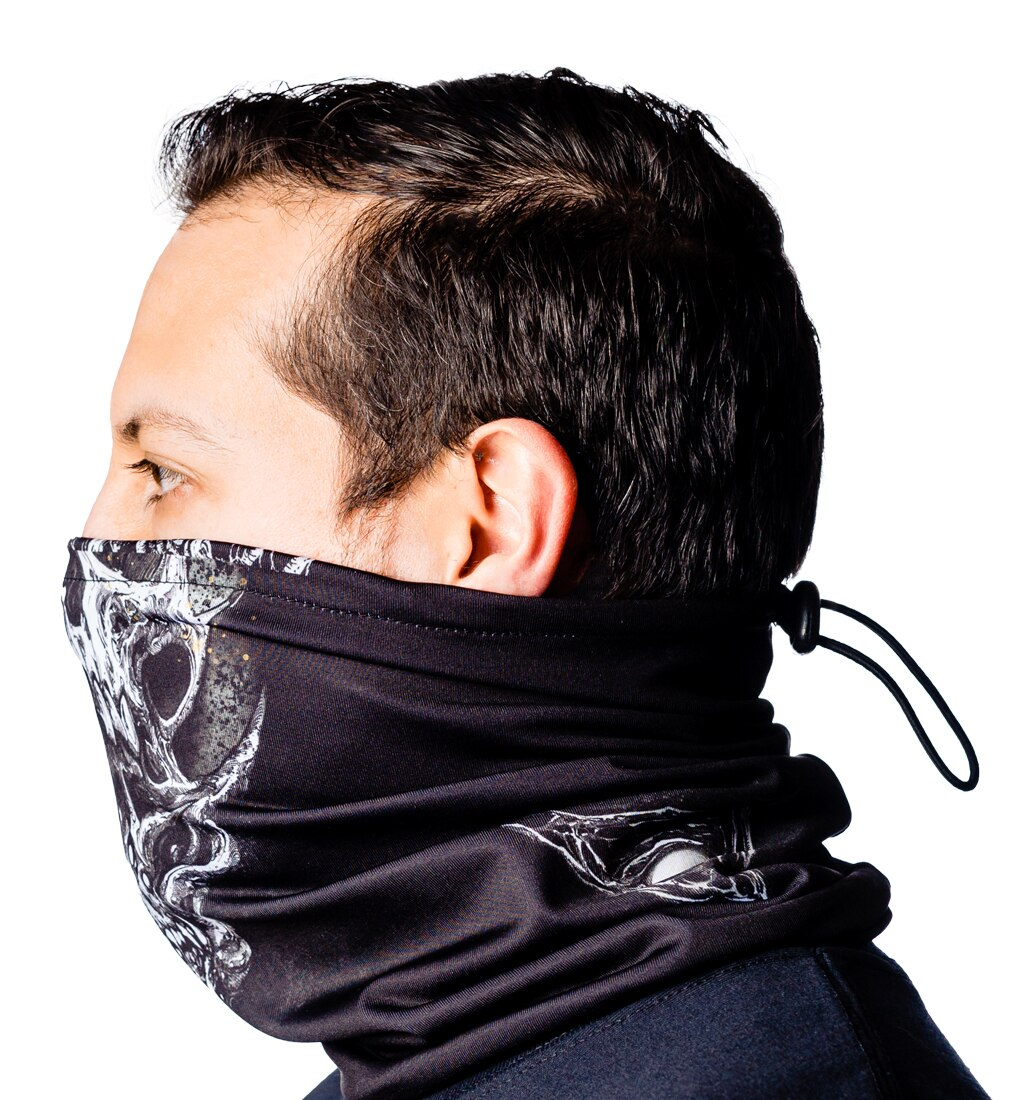Arch Enemy skulls neck gaiter side 3