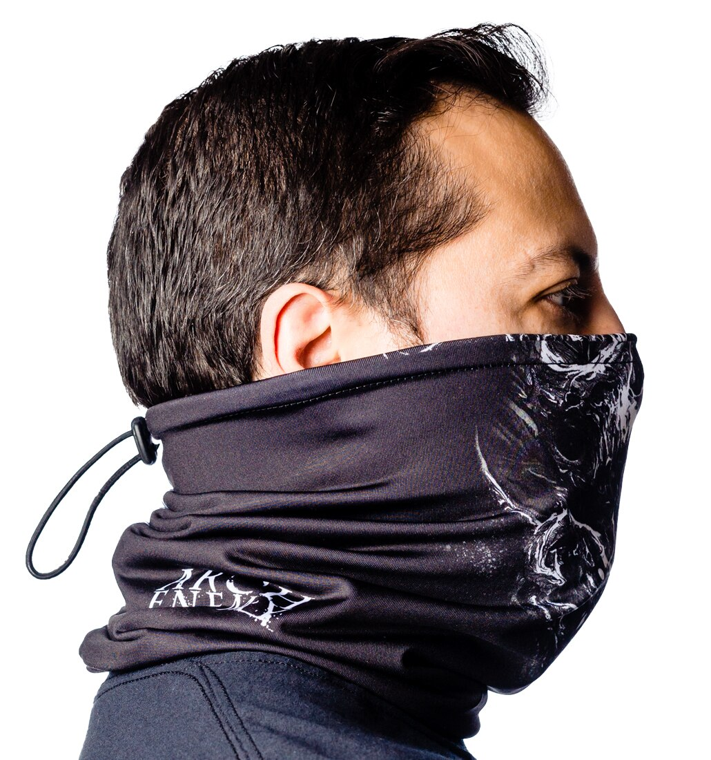 Arch Enemy skulls neck gaiter side 4