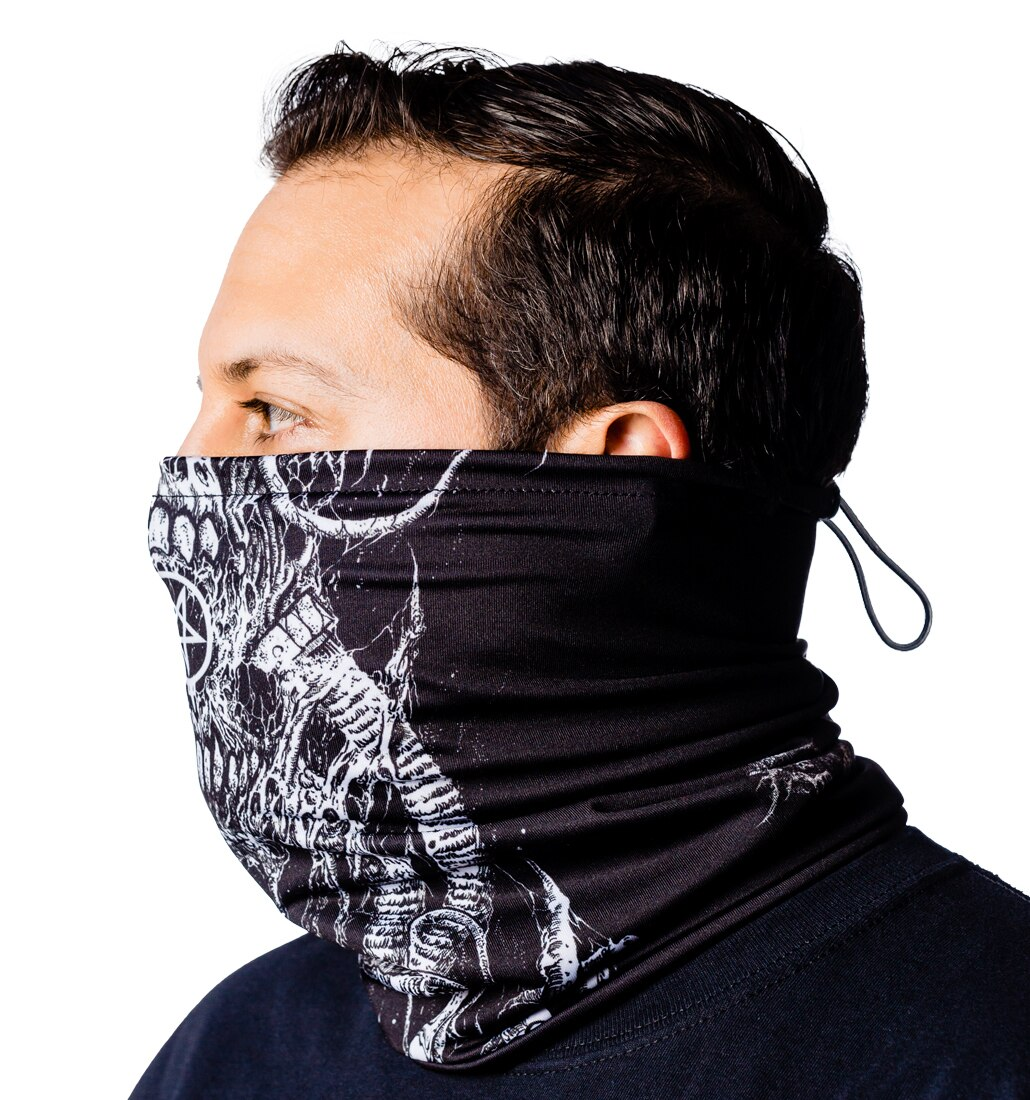 Arch Enemy skulls neck gaiter side