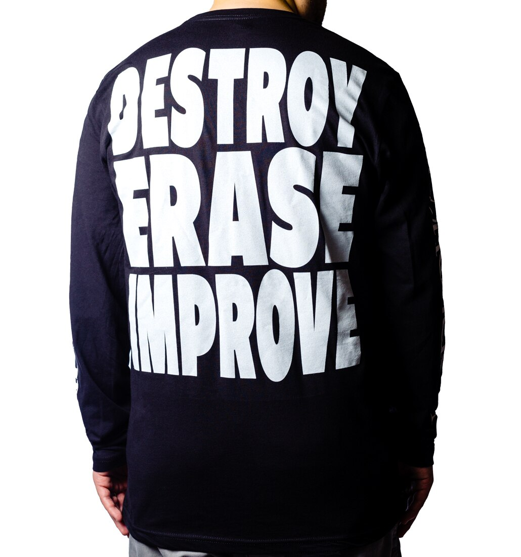 Meshuggah Destroy Erase Improve Long Sleeve back