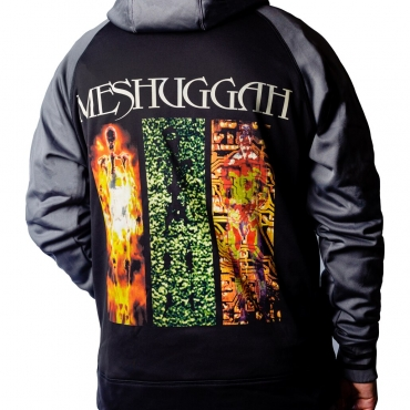 Meshuggah Destroy Erase Improve zip hoodie back