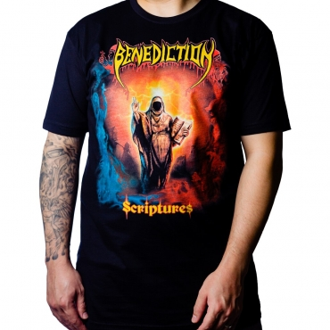 Benediction Scriptures tee for Nuclear Blast