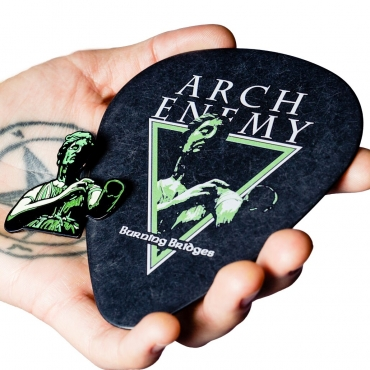 Arch Enemy Burning Bridges guitar oversize pick coaster