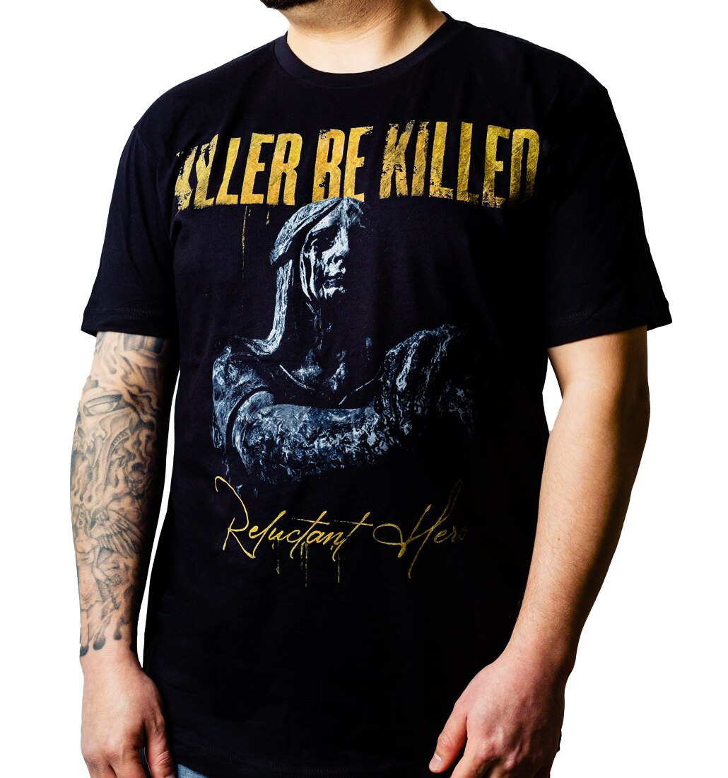 Killer Be Killed Reluctant Hero album t-shirt model