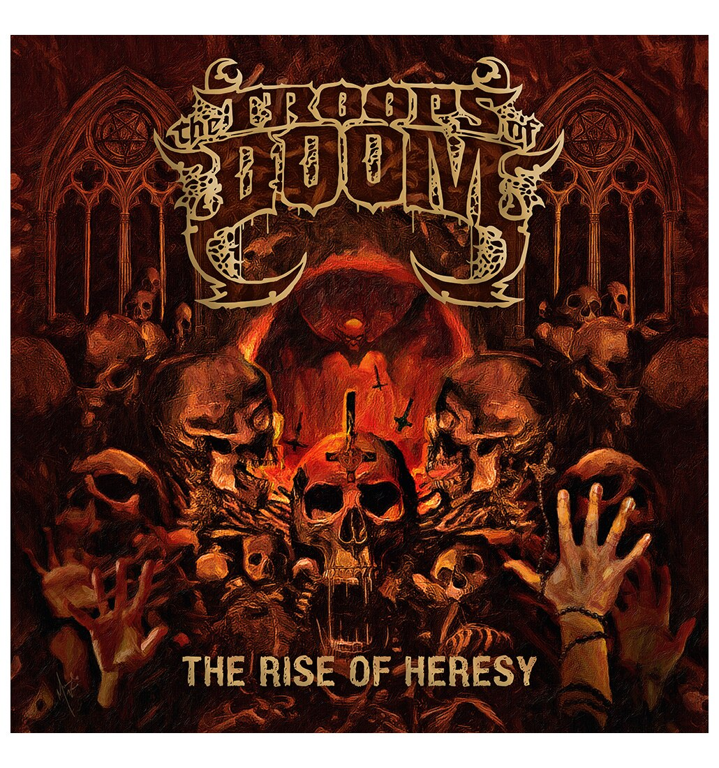 The Troops of Doom The Rise of Heresy cd cover art