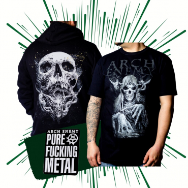 Arch Enemy bones bundle t-shirt hoodie pin