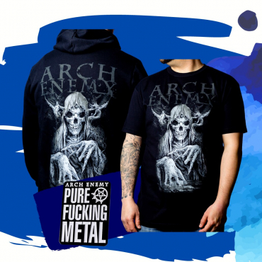 Arch Enemy MMXX bundle zip hoodie t-shirt pin