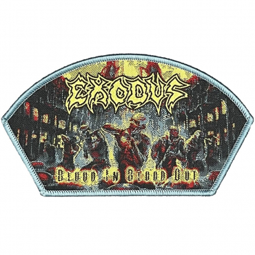 Exodus Blood in Blood Out woven patch gray border