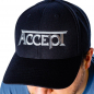 Accept logo embroidered ball cap hat snapback