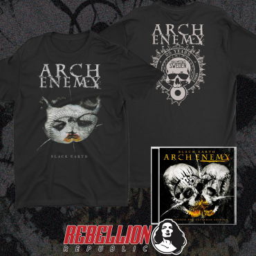 Arch Enemy Black Earth 25th Anniversary tee and cd bundle