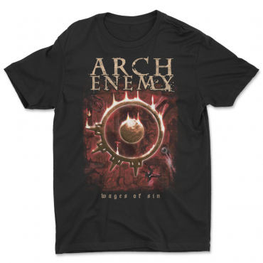 Arch Enemy Wages of Sin 25 years anniversary tee tshirt