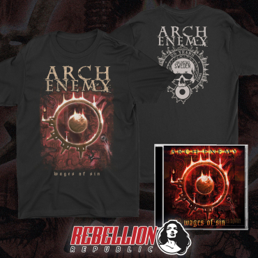 Arch Enemy Wages of Sin 25 years anniversary tee tshirt cd