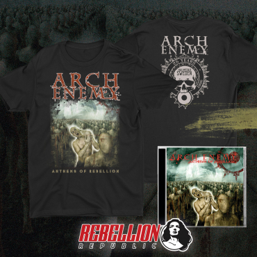 Arch Enemy Anthems of Rebellion 25 years anniversary cd tee tshirt