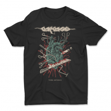 Carcass Costin Chioreanu heart surgical tools torn arteries tee tshirt