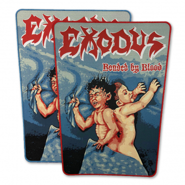 Exodus Bonded By Blood back patch backpatch pull the plug blue red