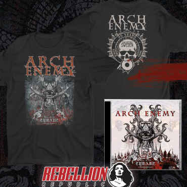 Arch Enemy Rise of the Tyrant 25 years Bundle tee cd t-shirt